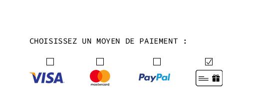 paiement par carte cadeaux